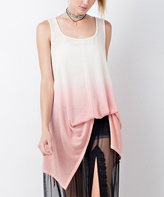 Jane Coral Ombré Sleeveless Tunic