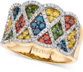 LeVian Le Vian Exotics Multi-Colored Diamond Ring (1 3/8 ct. t.w.) in 14k Gold