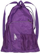 Speedo Swim Deluxe Ventilator Mesh Pool Gear Swimming Bag -Purple