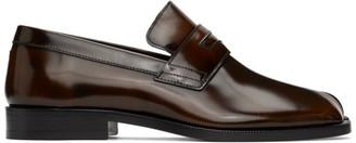 Maison Margiela Brown Tabi Advocate loafers
