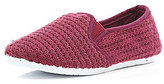 River Island Boys dark red slip on mesh shoes
