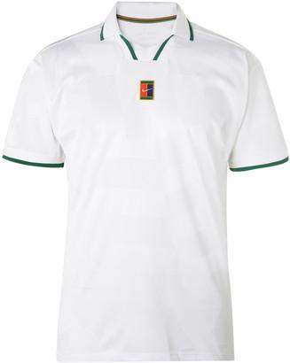 Nike Tennis Contrast-Tipped Stretch-Pique Tennis Shirt