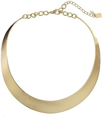 Robert Lee Morris Half Moon Collar Necklace (Gold) Necklace