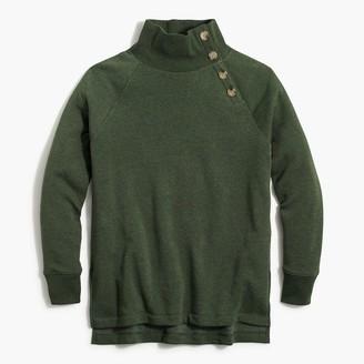 J.Crew Wide button-collar tunic sweatshirt