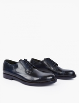 Valentino Navy Leather Star-motif Derby Shoes