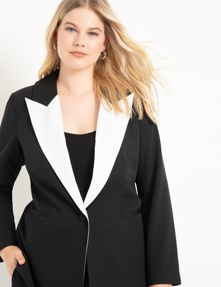 ELOQUII Colorblocked Tuxedo Blazer