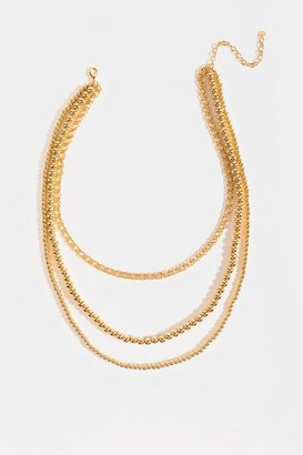 francesca's Serenity Mix Chain Layered Necklace - Gold