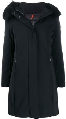 RRD fur-trimmed hood parka coat