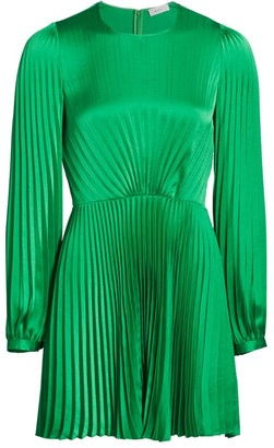 A.L.C. Tavi Long-Sleeve Pleated Mini Dress