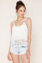 Forever 21 FOREVER 21+ Embroidered Self-Tie Cami