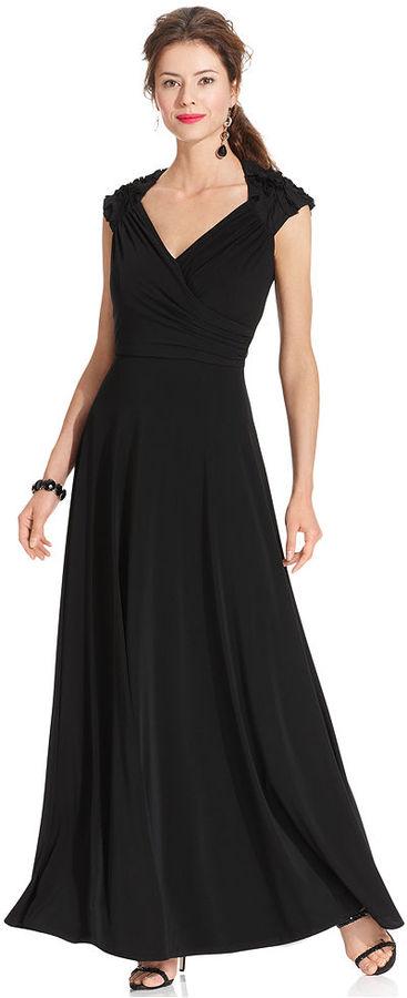 Patra Dress, Cap-Sleeve Back-Cutout