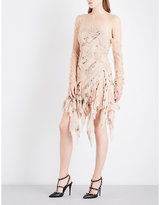 Zimmermann Maples Temperance silk-georgette and floral-lace mini dress