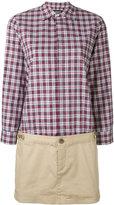 DSQUARED2 check cargo dress - women - Cotton/Spandex/Elastane - 38