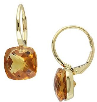 Sonatina 14K Yellow Gold Madeira Citrine Earrings