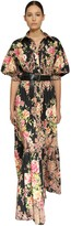 Ingie Paris Floral Print Cotton Poplin Long Dress
