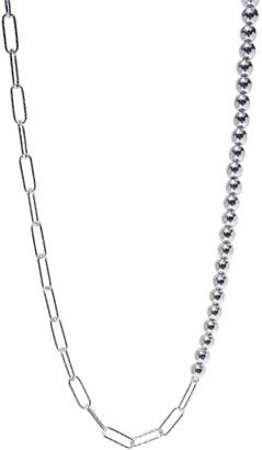 Lucy Ashton Jewellery Bead Link Choker Necklace Sterling Silver