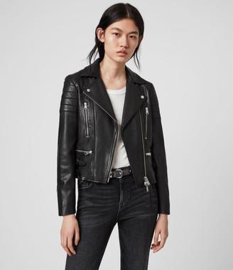 AllSaints Halley Leather Biker Jacket