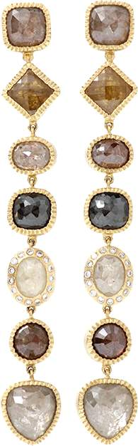 Todd Reed Fancy Diamond Drop Earrings