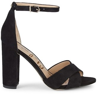 Sam Edelman Yancy Crossover Strap Suede Sandals