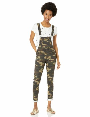 Cover Girl Junior's Size Denim Bib Strap Button Skinny Fit