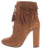 Aquazzura Woodstock Lace-Up Ankle Boots