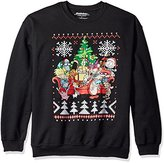 Nickelodeon Men's Retro Group Shot Ugly Christmas Sweatshirt