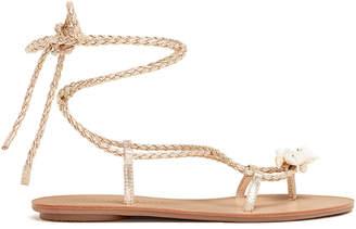 Loeffler Randall Shelly Metallic Wrap Sandals