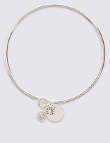 M&S Collection Silver Plated Bangle Bracelet