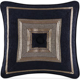 "J Queen New York Bradshaw Black 18"" x 18"" Decorative Pillow"