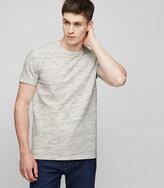 Reiss Reiss Mallory - Mottled Crew-neck T-shirt In Grey, Mens