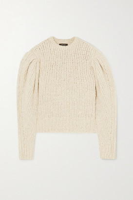 Isabel Marant Enora Ribbed-knit Sweater - Ecru