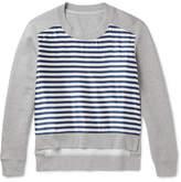 Burberry Runway Cotton-Blend Jersey and Striped Silk-Blend Sweatshirt