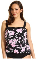 Miraclesuit Plus Size Spring Fling Breezy Top (Pink) - Apparel