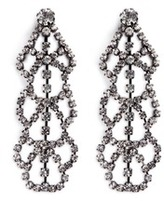 Kenneth Jay Lane Glass crystal lace drop earrings