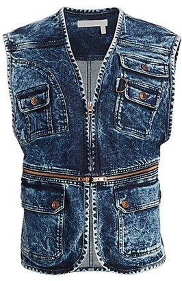 See by Chloe Zip Denim Vest