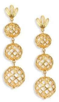 Lele Sadoughi Tiered Pineapple Clip-On Drop Earrings