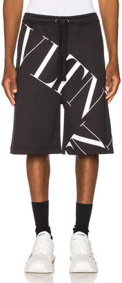 Valentino Logo Short in Black | FWRD