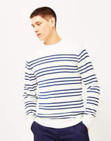 Armor Lux Double Stripe Mariner Sweater Off White