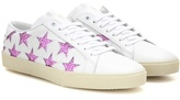 Saint Laurent Embellished Leather Sneakers