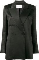 Olivier Theyskens - long double breasted blazer - women - Silk/Cotton - 34
