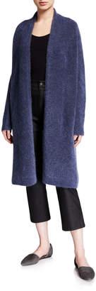Eileen Fisher Plush Melange Wool Mohair Long Cardigan
