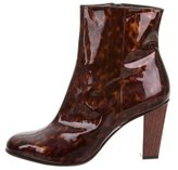 Dries Van Noten Tortoiseshell Round-Toe Ankle Boots w/ Tags