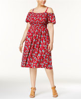 Almost Famous Trendy Plus Size Off-The-Shoulder Ruffle Dress