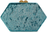 Thumbnail for your product : Kayu Sloane Crushed-velvet Box Clutch