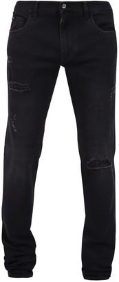 Dolce & Gabbana Distressed Skinny Fit Jeans