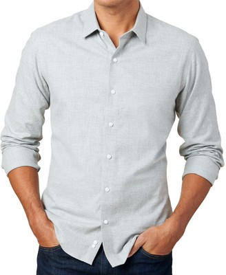 The Tie BarThe Tie Bar Grey Solid Flannel Shirt
