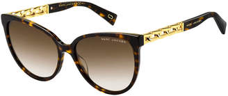 Marc Jacobs The Round Gradient Sunglasses w/ Curb Chain Arms