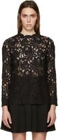 Saint Laurent Black Lace Blouse