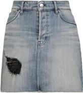 IRO Chicago distressed denim mini skirt