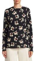 Proenza Schouler Floral-Print Jersey Top